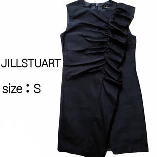 JILLSTUART - 【新品・タグ付き】JILLSTUART ペニーメモリーフリルワンピース ネイビー