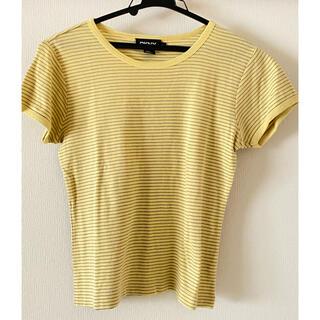 ダナキャランニューヨーク(DKNY)のDKNY ダナキャランニューヨーク 黄色 ストライプ 半袖Tシャツ(Tシャツ(半袖/袖なし))