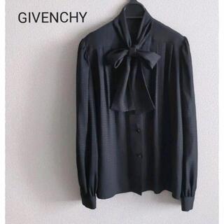 GIVENCHY - GIVENCHY ジバンシー リボンタイブラウス G総柄