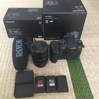 パナソニック(Panasonic)のGH5、レンズ、マイク一式(ミラーレス一眼)