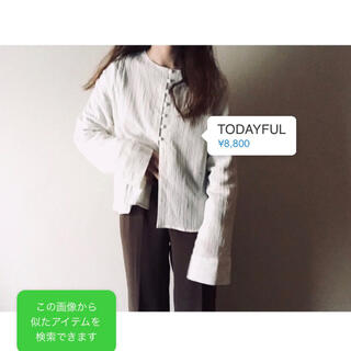 TODAYFUL - 【 TODAYFUL 】 クレープジョーゼットシャツ