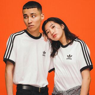 adidas - adida 3ストライプスTシャツ