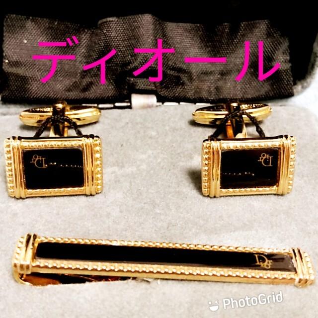 Christian Dior(クリスチャンディオール)のディオールネクタイピンカフスセット箱付 メンズのファッション小物(ネクタイピン)の商品写真