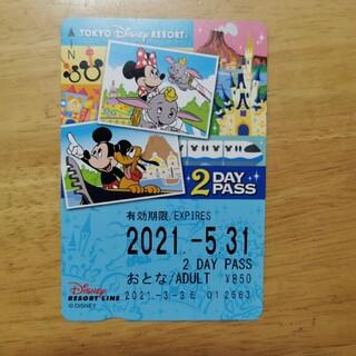 ディズニー(Disney)の【未使用】ディズニーリゾートライン 2Day pass(遊園地/テーマパーク)
