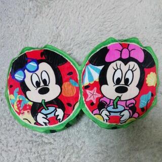 ディズニー(Disney)の非売品 ディズニー スイカ ぬいぐるみ クッション ミッキー&ミニー(クッション)