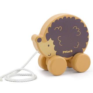 ボーネルンド(BorneLund)の新品PolarBポーラービープルトイ赤ちゃんベビー木製玩具おもちゃ北欧出産祝い(手押し車/カタカタ)