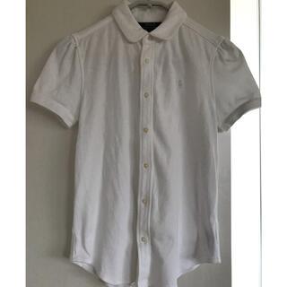 ポロラルフローレン(POLO RALPH LAUREN)の新品!ラルフローレン 半袖シャツ ブラウス 150cm 襟付き ホワイト 白(ブラウス)