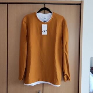 ZARA - 【新品未使用】ZARA 長袖Tシャツ 重ね着風