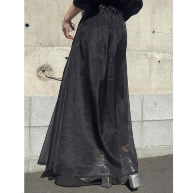 Ameri VINTAGE(アメリヴィンテージ)の未使用 &g'aime シアーレイヤードスカート レディースのスカート(ロングスカート)の商品写真