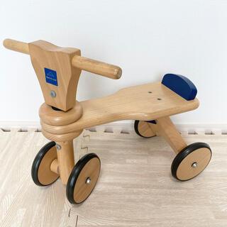 BorneLund - ボーネルンド はじめての木製バイク 四輪プッシュバイク
