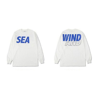 SEA - WIND AND SEAウィンダンシーSEAロゴロンT白XLパーカーフーディー