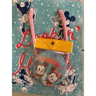 ディズニー(Disney)の缶バッチ&手提げ袋(ショップ袋)