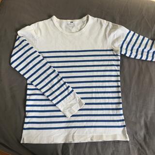 ユニクロ(UNIQLO)のUNIQLO ユニクロ  ボーダー コットン長袖シャツ(Tシャツ/カットソー(七分/長袖))