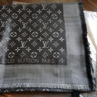 LOUIS VUITTON - ☆新品未使用 LOUIS VUITTON  スカーフ LVシルク ショールブラッ