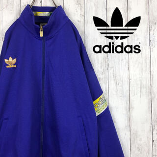 アディダス(adidas)のアディダス トラックジャケット ジャージ ATP ファイヤーバード 青 90s(ジャージ)