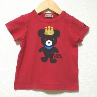 mikihouse - ミキハウス 90 Tシャツ 半袖カットソー キングくん 赤 日本製