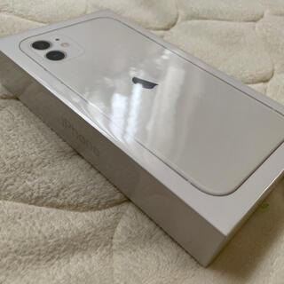 iPhone - 新品 iPhone11 64 GB ホワイト 本体 SIMフリー 残債なし