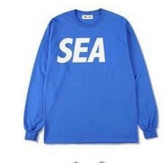 SEA - WIND AND SEA ウィンダンシー ロンT Blue-White