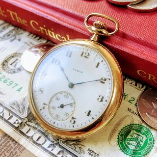 エルジン(ELGIN)の#1332【携帯性の良い大きさ】メンズ 懐中時計 エルジン ELGIN 動作良好(その他)