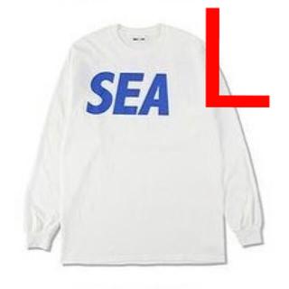 SEA - WIND AND SEA L/S T-SHIRT White-Blue Lサイズ