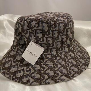 Christian Dior - Christian Dior  ロゴ バケットハット  ベージュ  帽子
