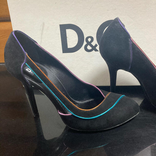 DOLCE&GABBANA - ドルチェ&ガッバーナ パンプス  スェード  ブラック