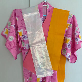 金魚柄 浴衣 帯 飾り帯付き(浴衣)