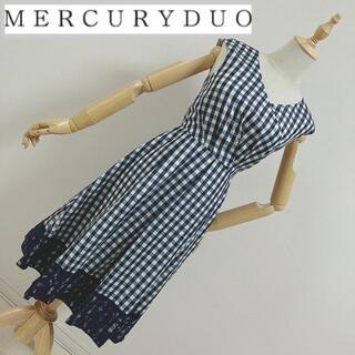 MERCURYDUO - マーキュリー ギンガムチェック柄 カシュクールワンピース
