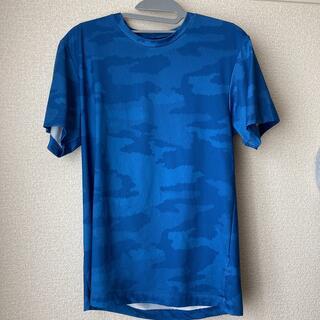 ジーユー(GU)のカモ柄ブルー スポーツTシャツ(Tシャツ/カットソー(半袖/袖なし))