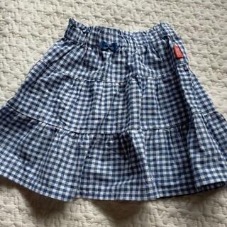 シマムラ(しまむら)のサンカンシオン 3can4on しまむら ギンガムチェック スカート 90(スカート)