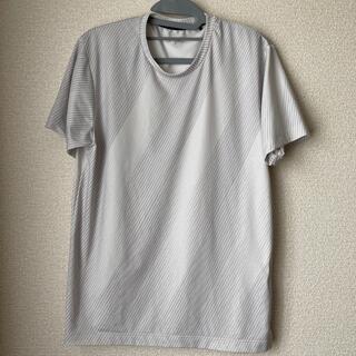 ジーユー(GU)のホワイト スポーツTシャツ(Tシャツ/カットソー(半袖/袖なし))