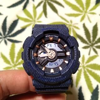 ベビージー(Baby-G)のCASIO Baby-G ba-110de ジーショック デニムカラー ネイビー(腕時計)
