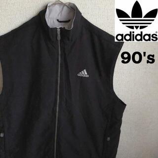 アディダス(adidas)の90s ADIDAS ナイロン ベスト ジャケット ブルゾン アディダス XL(ナイロンジャケット)
