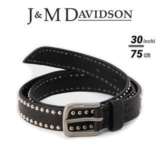 新品 定価5.8万 J&M DAVIDSON スタッズベルト ブラック