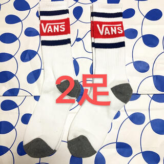 ヴァンズ(VANS)の2足 VANS ヴァンズ バンズ ラインソックス 靴下(ソックス)