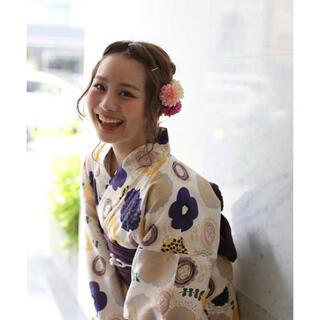 utatane 北欧ぽこぽこのお花 浴衣(浴衣)