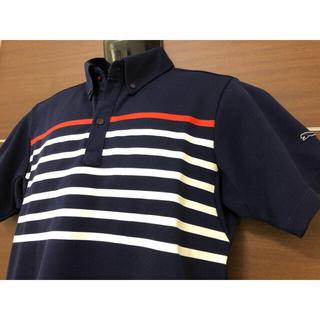 PUMA - ◆PUMAプーマゴルフ◆半袖ポロシャツ◆L◆ネイビー◆トリコロール