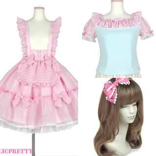 Angelic Pretty - アンジェリック プリティ ふんわりパフェスカート ピンク セット