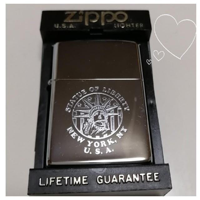 ZIPPO(ジッポー)のNew york,NY U.S.A. Zippo♥️ヴィンテージガスライター メンズのファッション小物(タバコグッズ)の商品写真