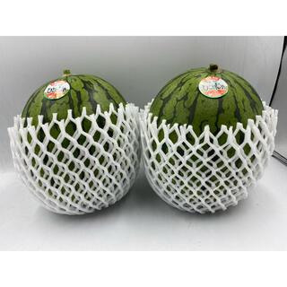 和歌山県産 ひとりじめスイカ2玉 2L 約2.3kg(フルーツ)