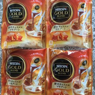 ネスレ(Nestle)のネスカフェ ゴールドブレンド ポーション 贅沢キャラメルマキアート 4袋(コーヒー)