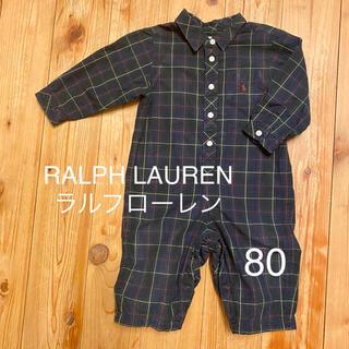 Ralph Lauren - RALPH LAUREN ラルフローレン【80】ロンパース ツナギ
