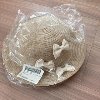 petit main - 【新品】プティマイン 麦わら 帽子 ハット リボン 52 アイボリー