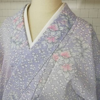 904ー99番 着物 洗えるお着物 絽 手縫い 綺麗 お買い得品(着物)