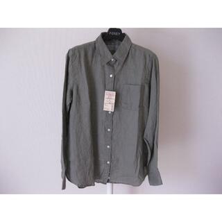 MUJI (無印良品) - ◆無印良品◆新品 フレンチリネン 洗いざらし シャツ カーキ M
