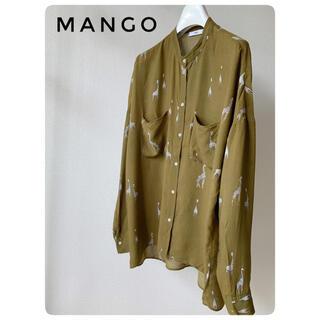 MANGO - 【Used】☆状態良し☆ MANGO キリン柄ブラウス