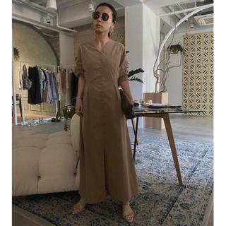 Ameri VINTAGE - ameri vintage LANTERN SLEEVE TUCK DRESS