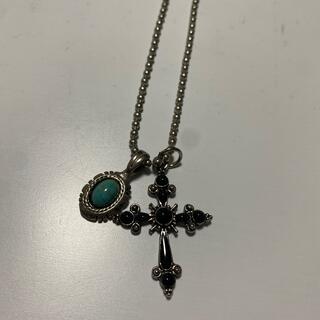 ターコイズ 十字架 ネックレス(ネックレス)
