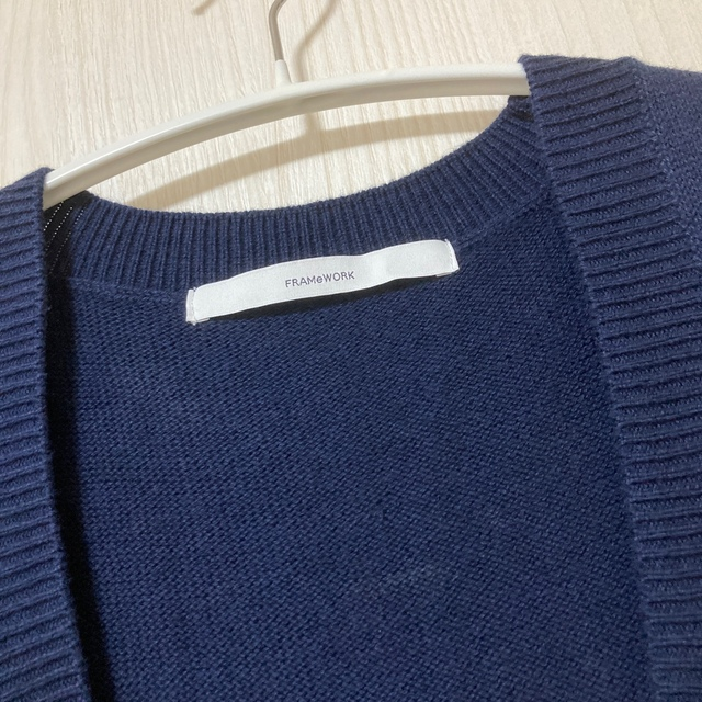 FRAMeWORK(フレームワーク)のフレームワーク 綿カシミヤ ベスト レディースのトップス(ニット/セーター)の商品写真
