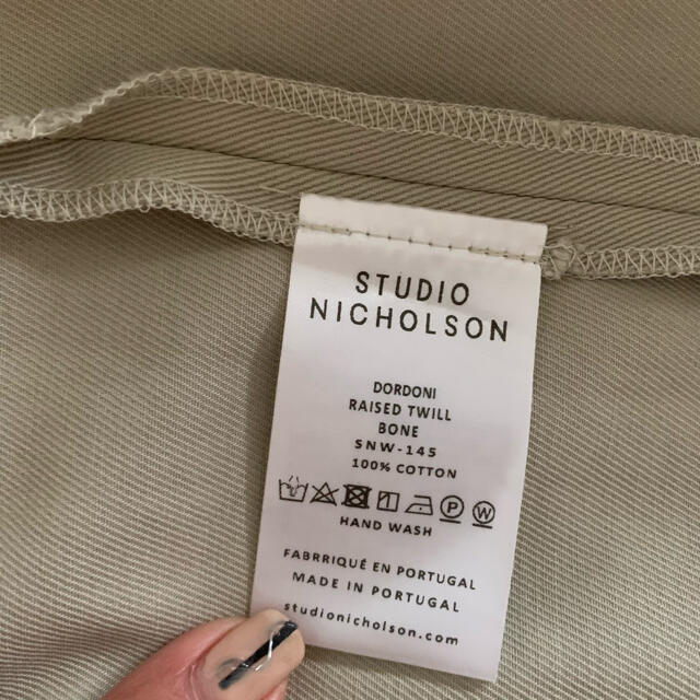 L'Appartement DEUXIEME CLASSE(アパルトモンドゥーズィエムクラス)の美品★STUDIO NICHOLSON スタジオニコルソン クロップドパンツ レディースのパンツ(クロップドパンツ)の商品写真